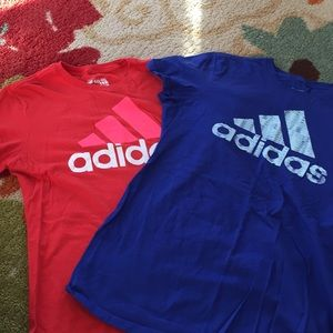 Lot of two Adidas tees